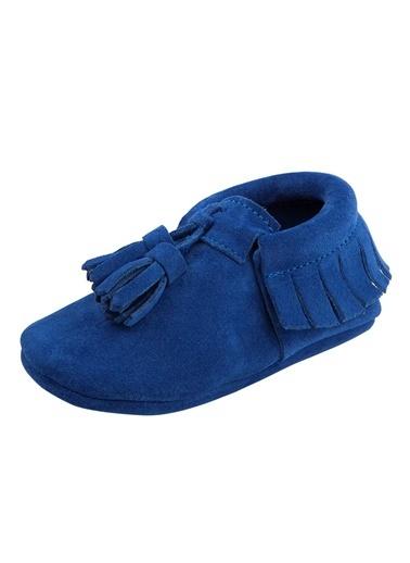 Moots Moots Saks Mavi Süet Püsküllü Ayakkabı Mavi